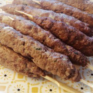 brochettes de viande hachée kefta