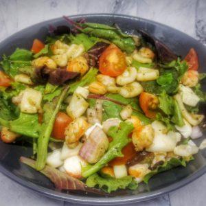 salade calamar crevette vinaigrette au pavot