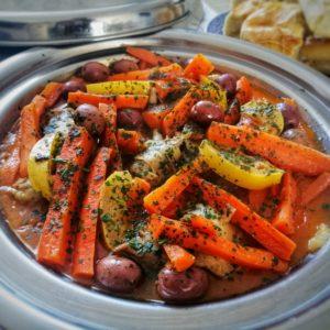 tajine poulet aux olives et carottes