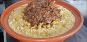 couscous aux raisins et poulet version rapide