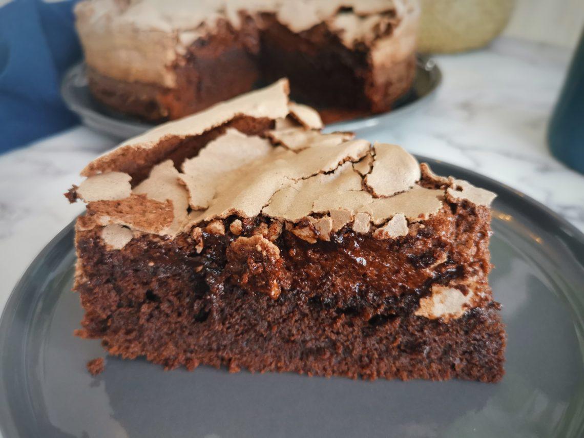 gâteau au chocolat meringué